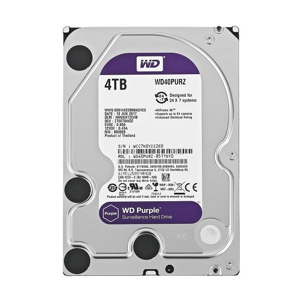 """WD Purple 4TB, 3,5"""", 64MB 5400rpm"""