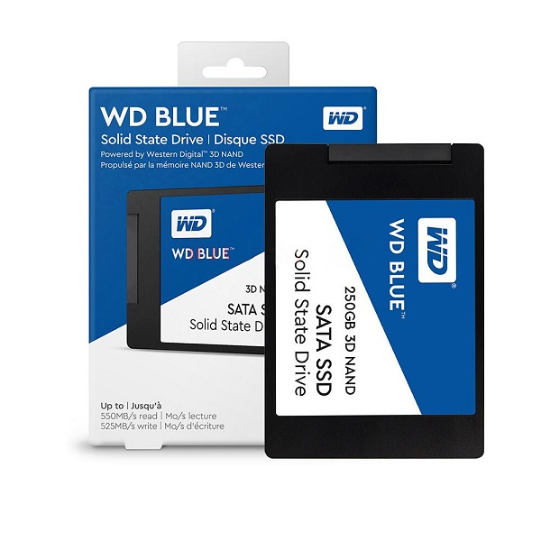 "WD Blue 3D NAND SSD 250GB, 2,5"", 7mm, R550/W525"