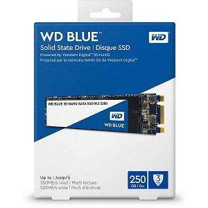 WD Blue 3D NAND SSD 250GB, M.2 2280, R550/W525