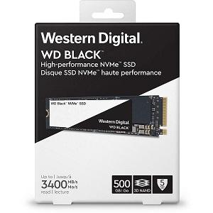 WD Black NVMe SSD 500GB, NVMe M.2 2280,R3400/W2600