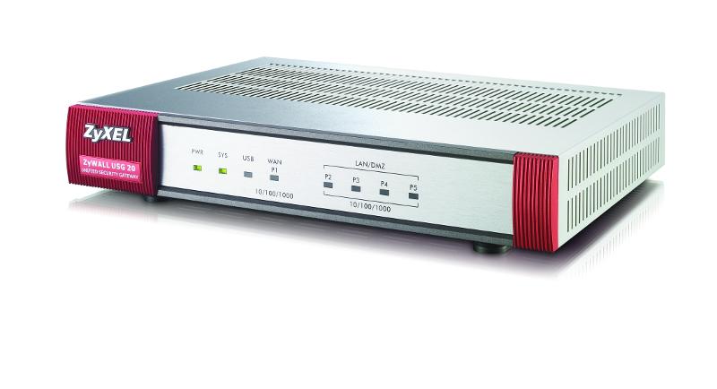 ZyXEL USG-20 security firewall 1W/4L, USB